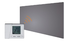 first heating wist infrarot bildheizung 120x60cm 1000w mit thermostat. Black Bedroom Furniture Sets. Home Design Ideas