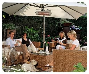 Heizstrahler im Aussenbereich wie z.B. Terrasse oder Garten