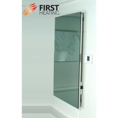 first heating spiegelheizung elegant mit integriertem funk thermostat. Black Bedroom Furniture Sets. Home Design Ideas