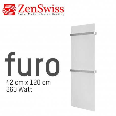 ZenSwiss Furo - 42 x 120 cm - 360 Watt - Weiss Matt